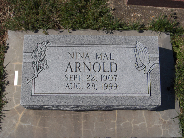 Nina May (Hinton) Arnold