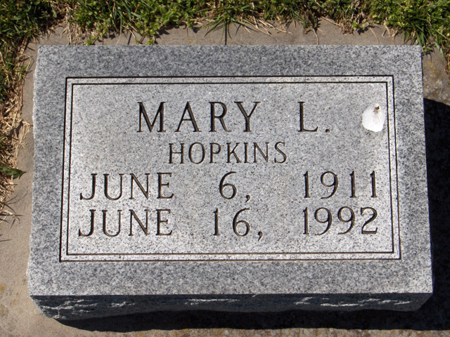 Mary Louisa (Hopkins) Hahn