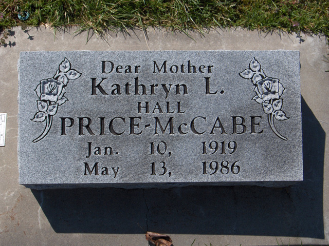 Kathryn L (Hall-Price) McCabe