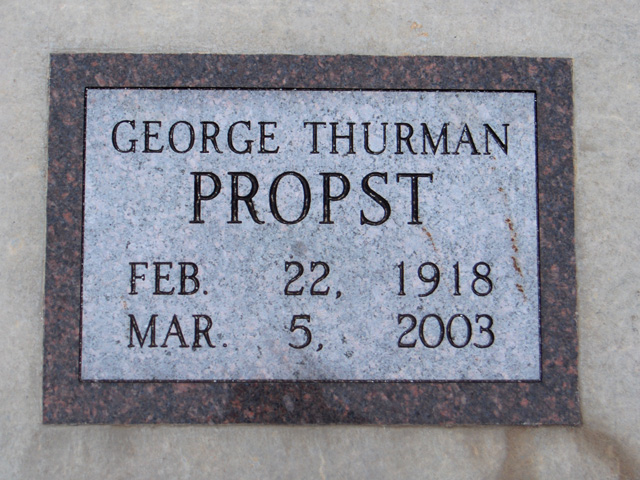 George Thurman Propst
